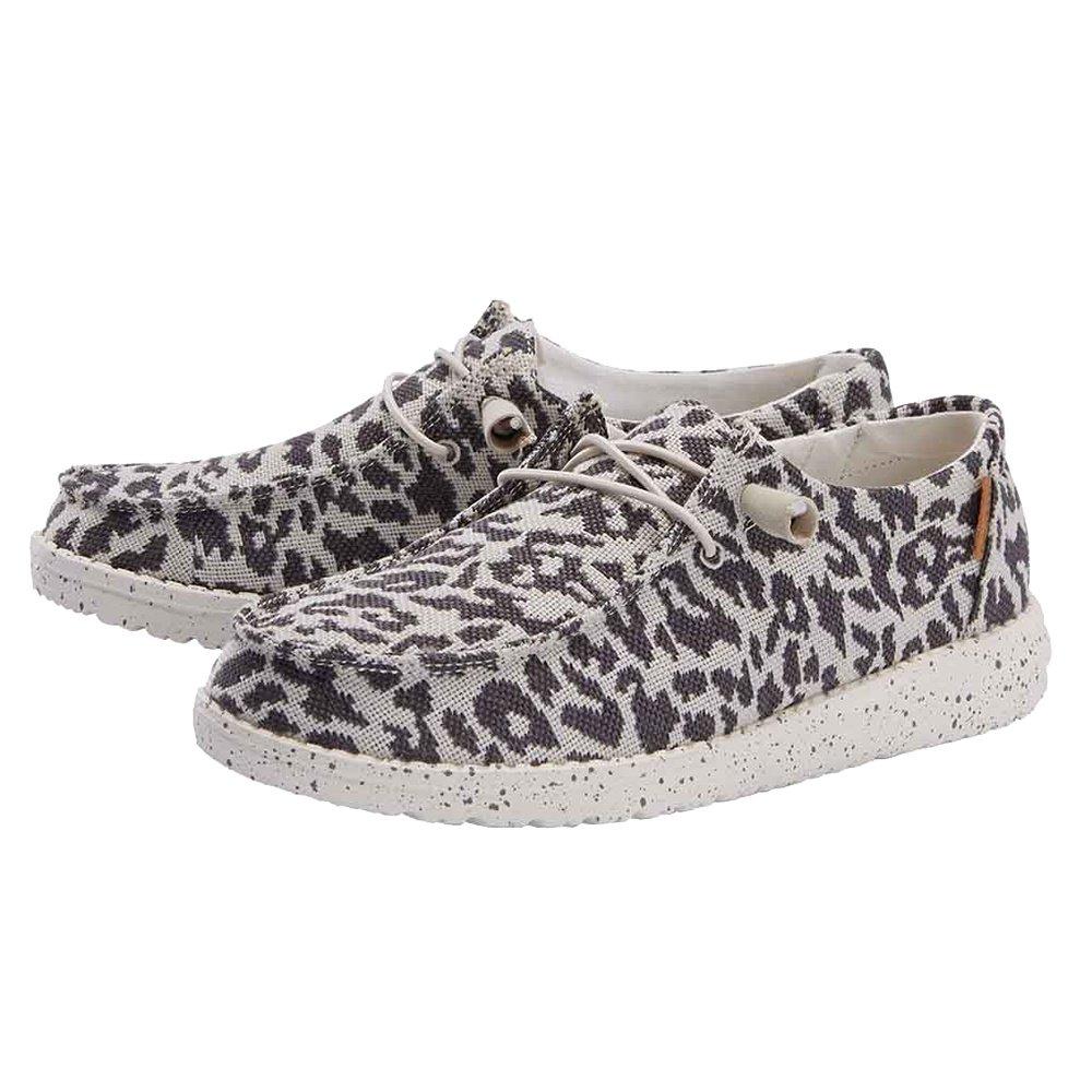 Hey Dude Wendy Woven Shoe (Women's) - Cheetah Grey