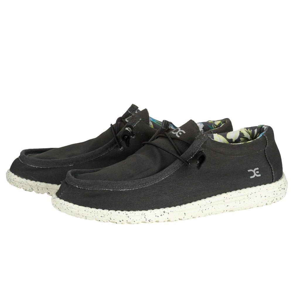 Hey Dude Wally Stretch Shoe (Men's) - Black