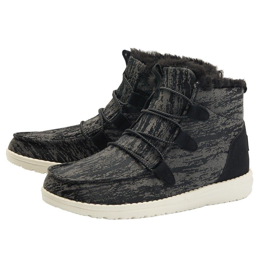 Hey Dude Lea Fur Shoe (Women's) - Black