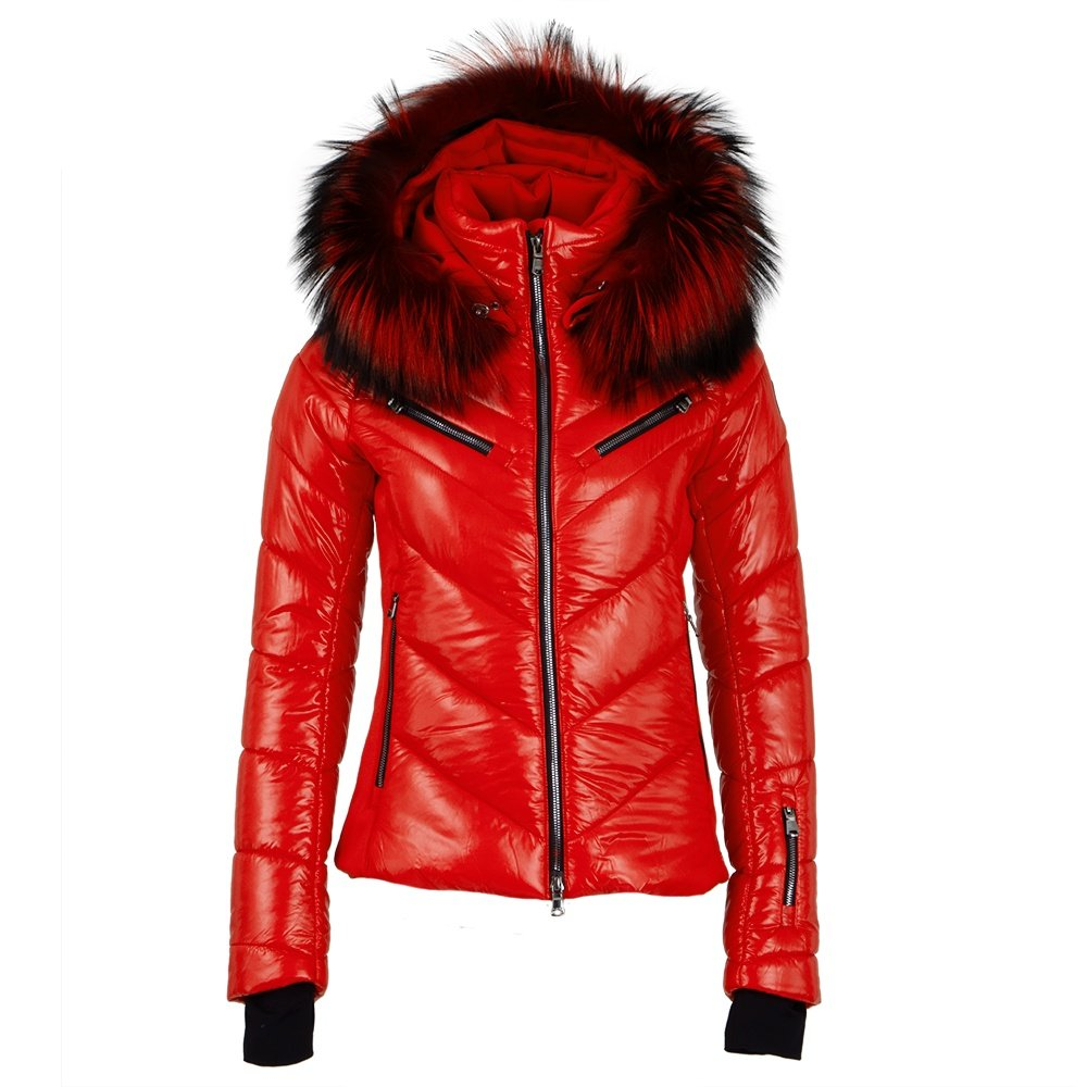 MDC Twyla Insulated Ski Jacket with Real Fur (Women's) - Red