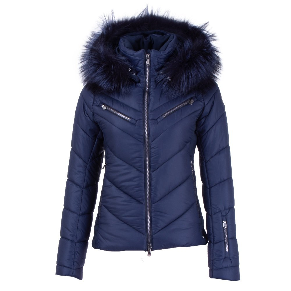 MDC Moira Insulated Ski Jacket with Real Fur (Women's) - Night Blue