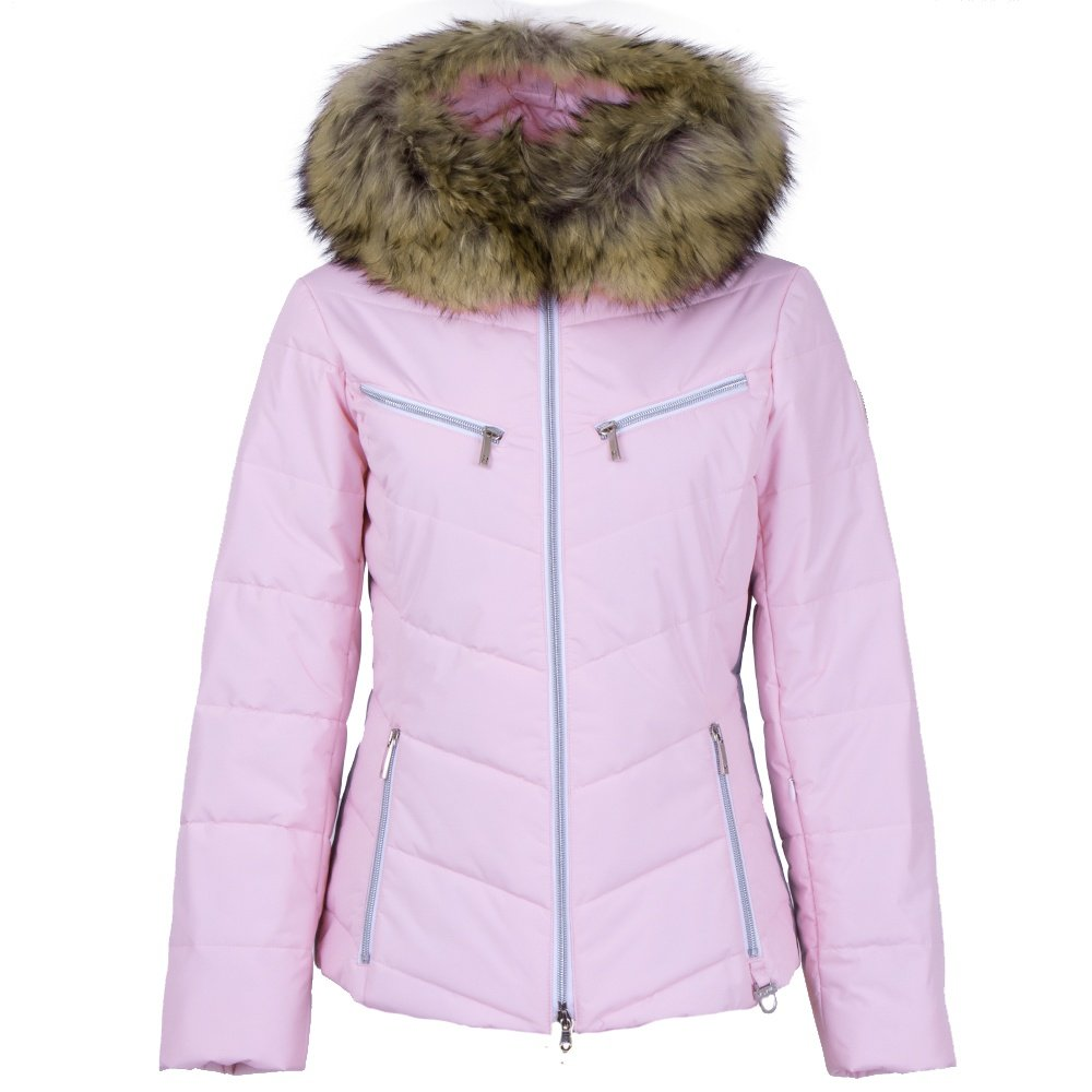M. Miller Trisha Insulated Ski Jacket with Real Fur (Women's) - Pink