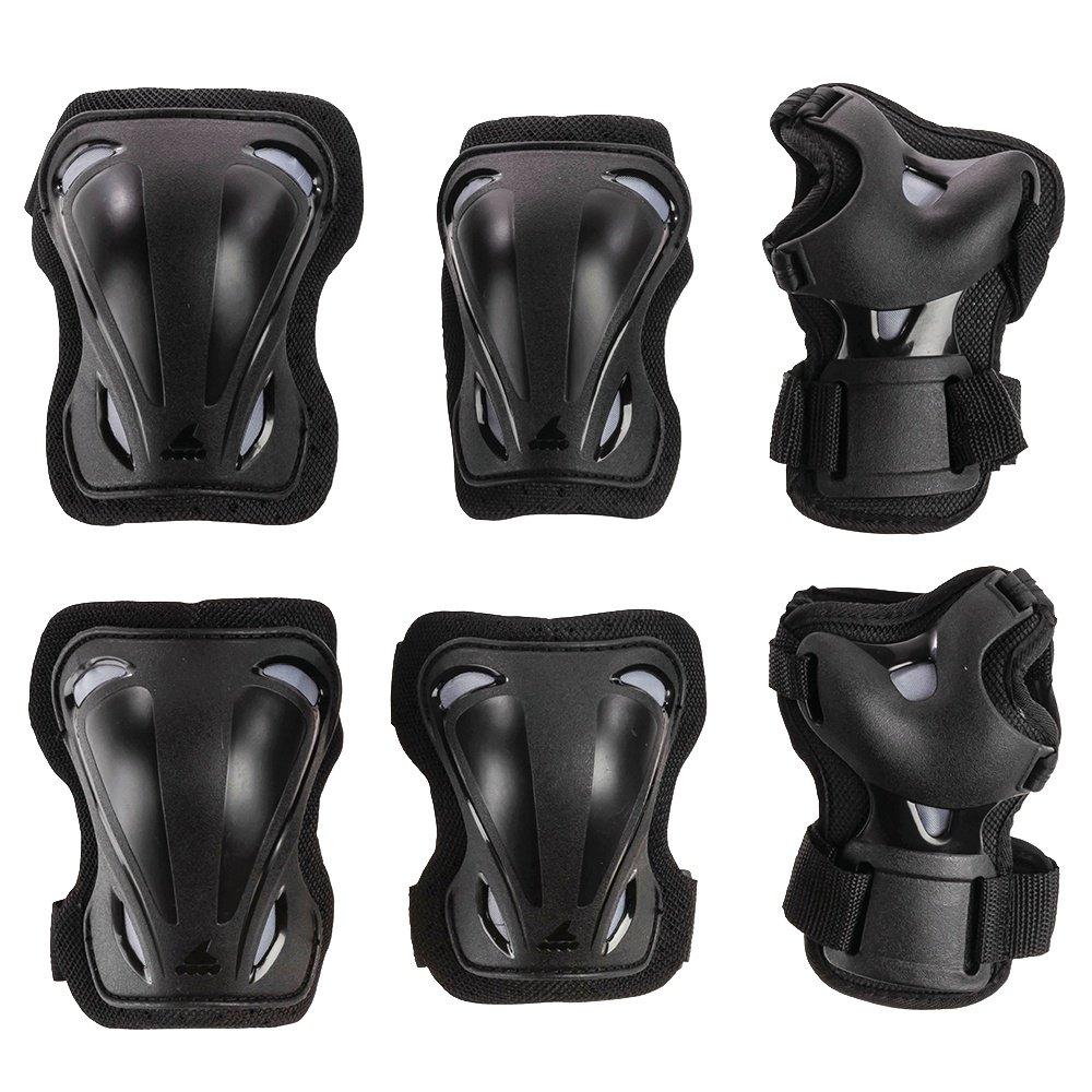 Rollerblade Skate Gear 3-Pack Wrist, Elbow, and Knee Pads (Men's) - Black