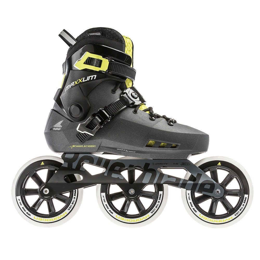 Rollerblade Maxxum Edge 125 3WD Inline Skate (Men's) - Metallic Grey/Lime
