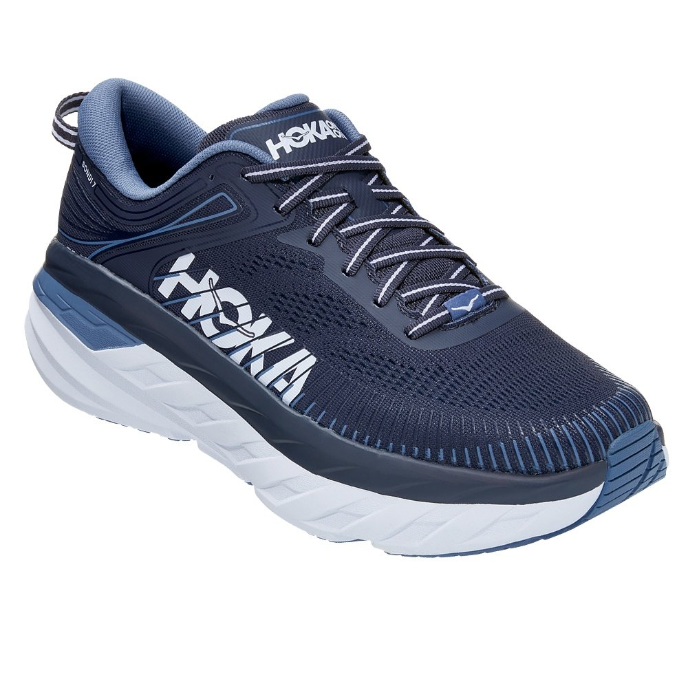 Hoka One One Bondi 7 Wide Running Shoe (Men's) - Ombre Blue/Provincial Blue