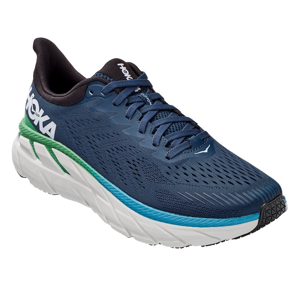 Hoka One One Clifton 7 Wide Running Shoe (Men's) - Moonlit Ocean/Anthracite