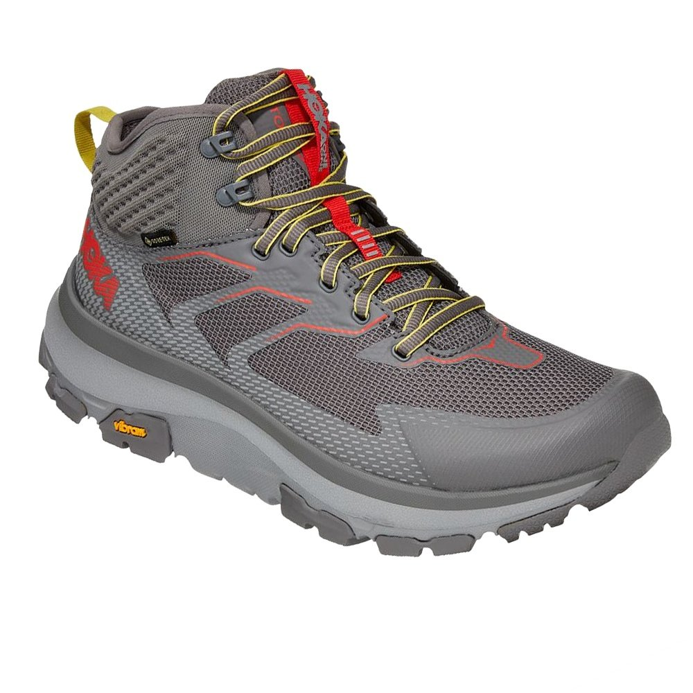 Hoka One One Toa GORE-TEX Hiking Boot (Men's) - Charcoal Gray/Fiesta