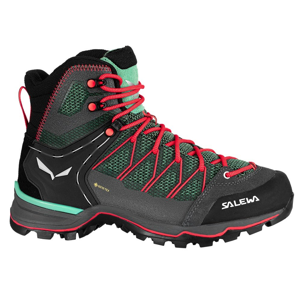Salewa Mtn Trainer Lite Mid GORE-TEX Hiking Boot (Women's) - Foeld Green/Fluo Coral