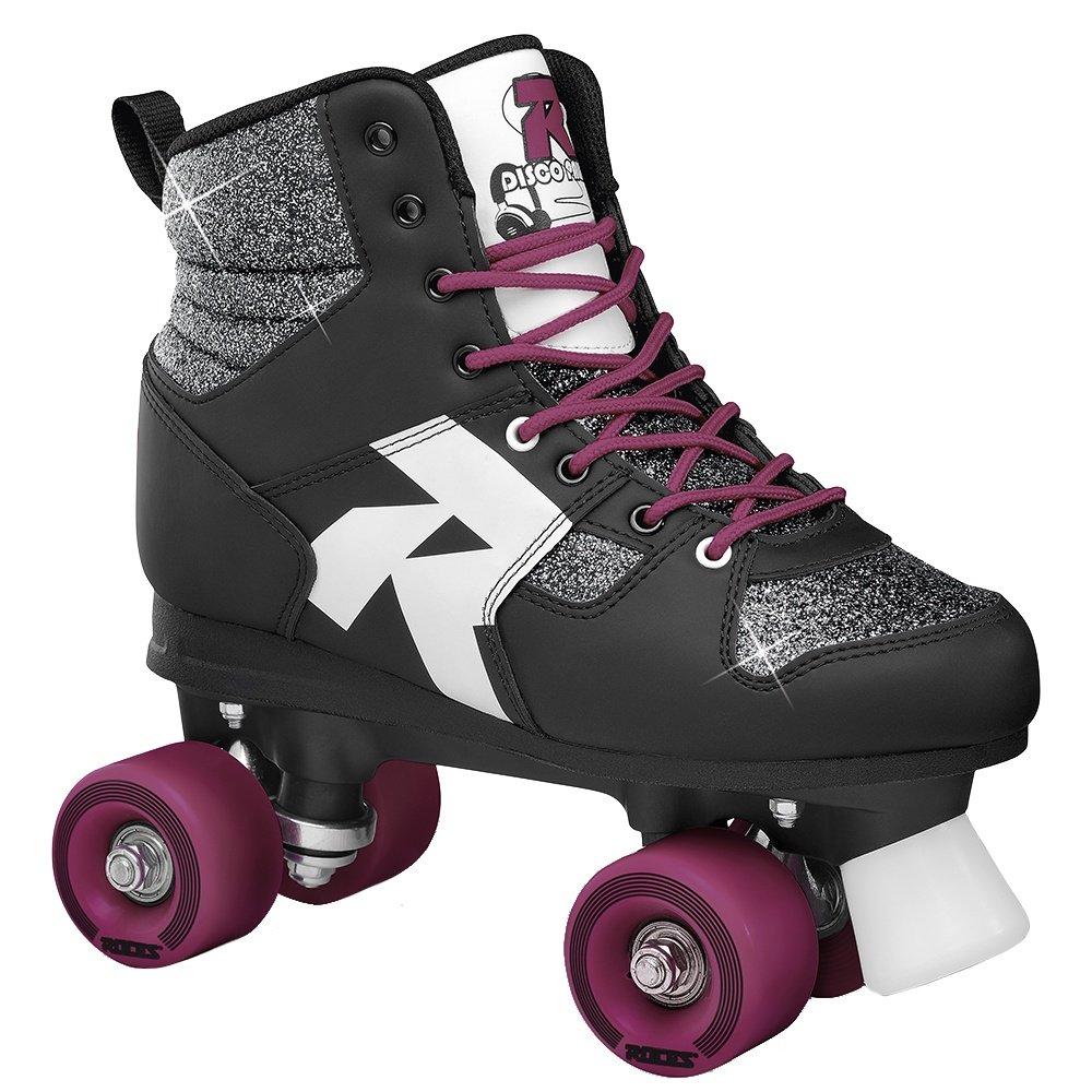 Roces Disco Palace Quad Roller Skate (Women's) - Glitter Black