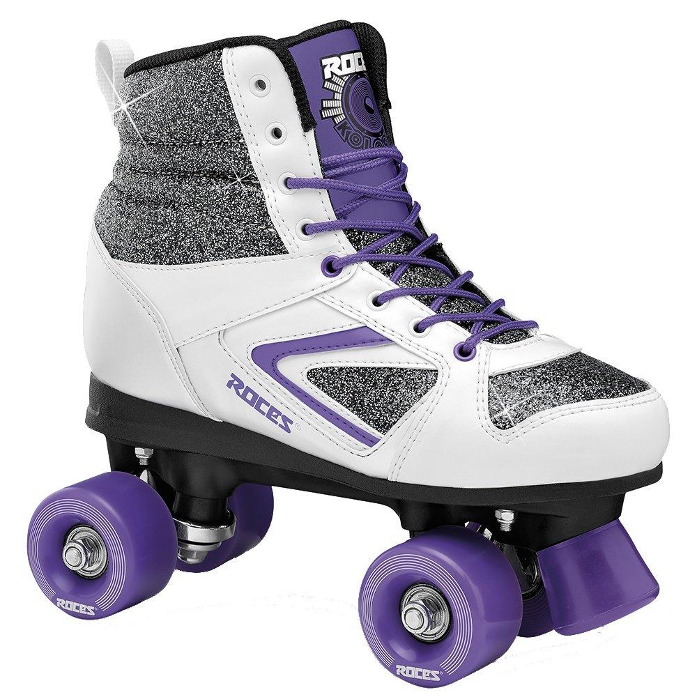 Roces Kolossal Quad Roller Skate (Women's) - Glitter/White/Purple