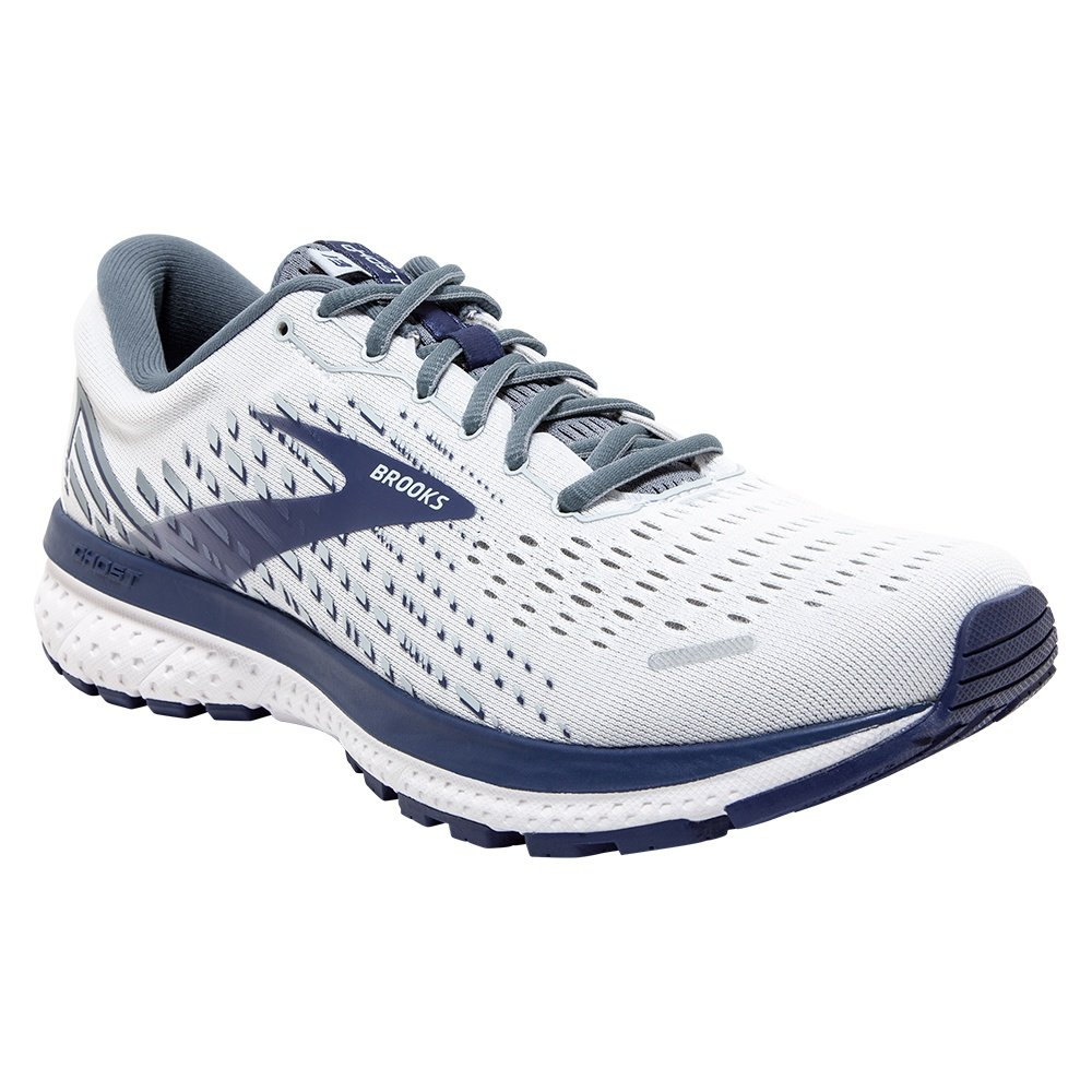 Brooks Ghost 13 Running Shoe (Men's) - White/Grey/Cobalt