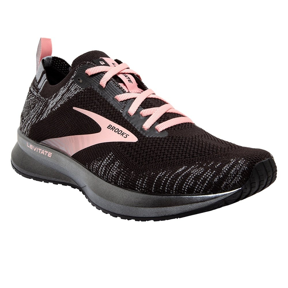 Brooks Levitate 4 Running Shoe (Women's) - Black/Charcoal/Coral