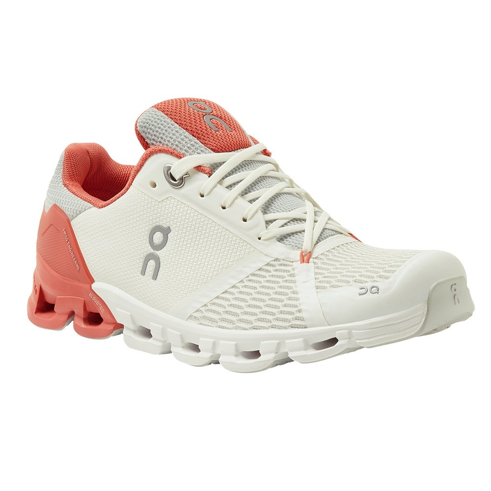 On Cloudflyer Running Shoe (Women's) - White/Coral