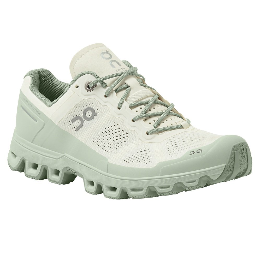 On Cloudventure Trail Running Shoe (Women's) - White/Moss