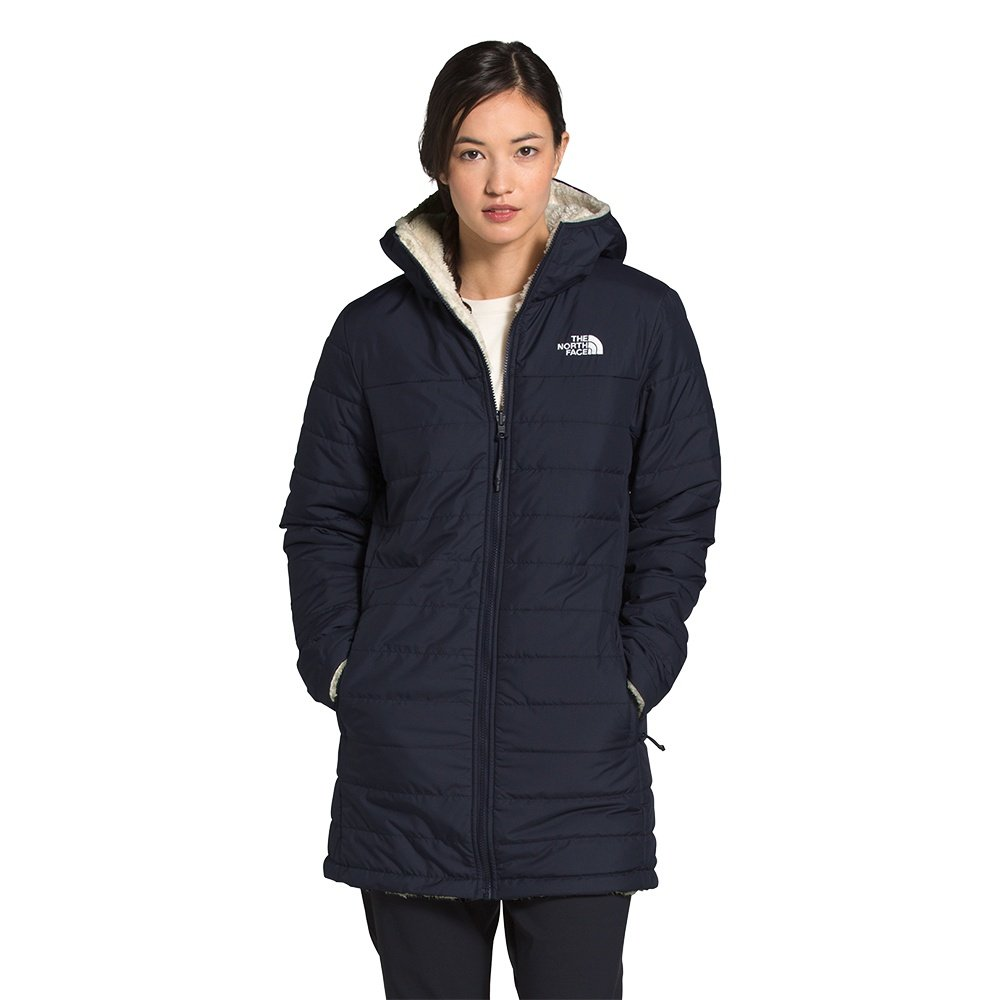 The North Face Mossbud Insulated Reversible Parka (Women's) - Aviator Navy/Vintage White