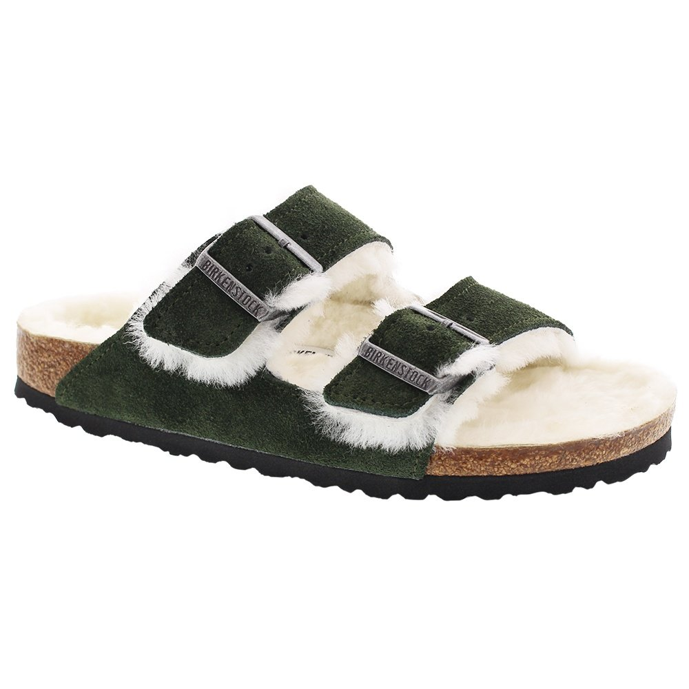 Birkenstock Arizona Shearling Sandal (Women's) - MTN View/Natural
