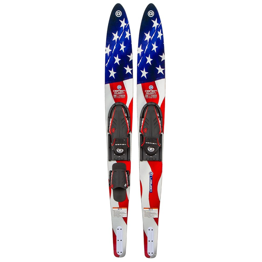 O'Brien Celebrity Waterski Combo with X-7 Bindings (Adults') - Flag