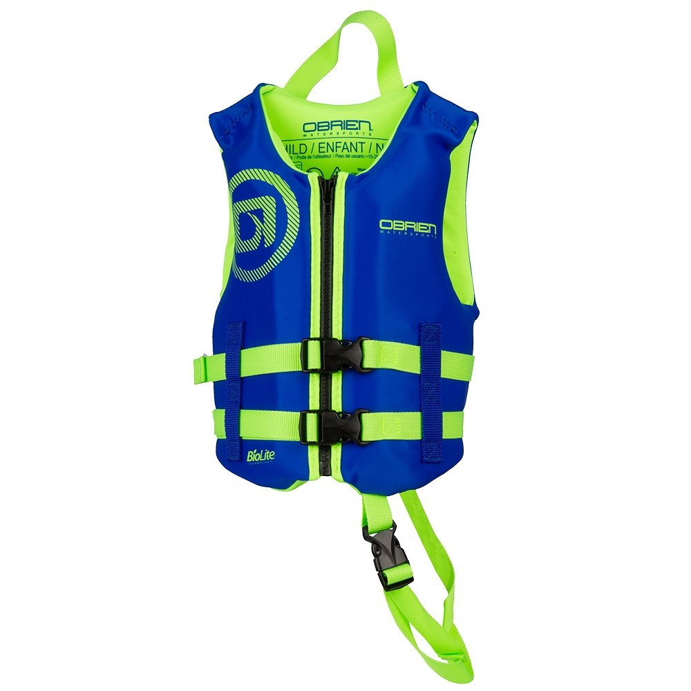 O'Brien Traditional USCG Life Vest (Little Kids') - Blue/Green