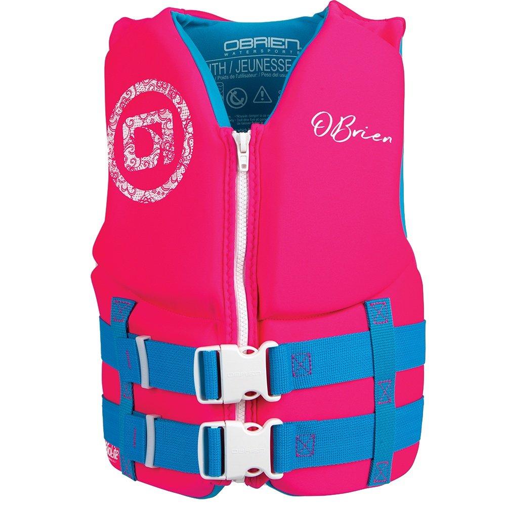 O'Brien Traditional USCG Life Vest (Little Girls') - Pink/Aqua