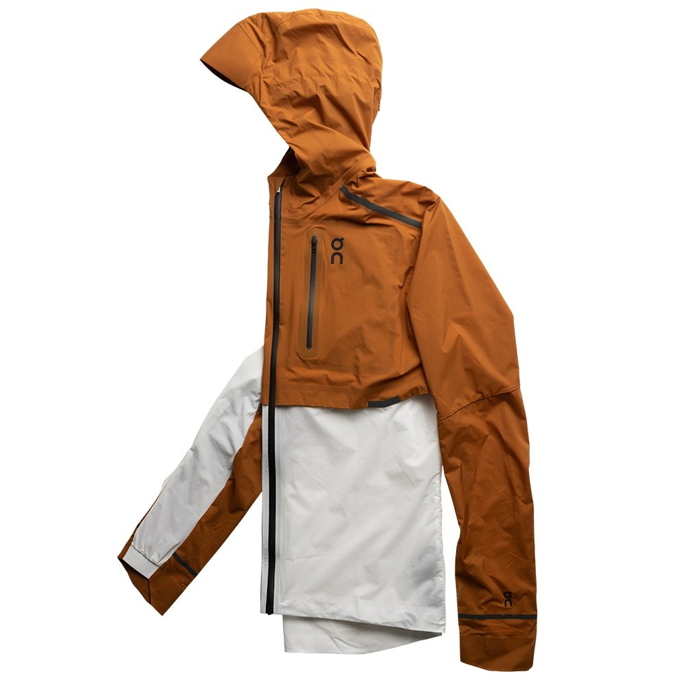 On Weather Running Jacket (Men's) - Pecan/White