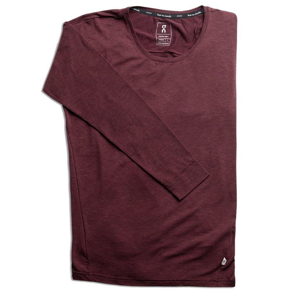 On Comfort Long-T Running Shirt (Women's) - Mulberry
