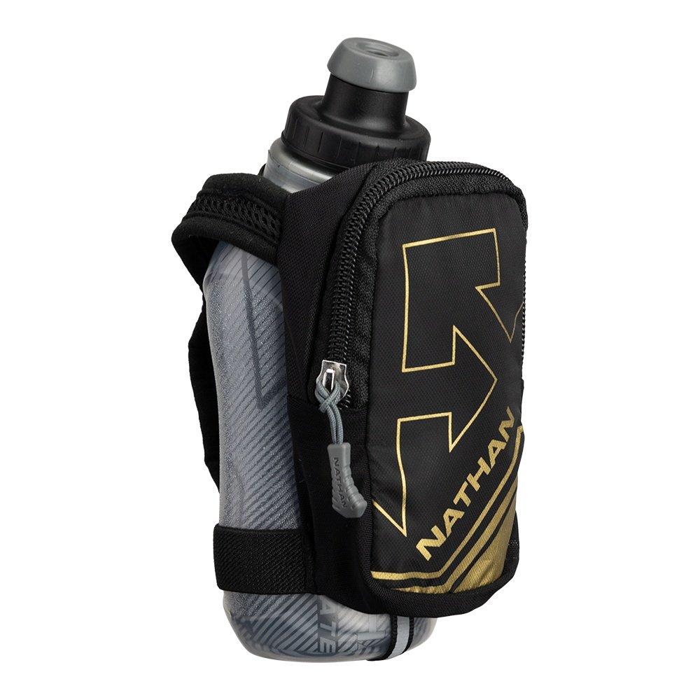 Nathan SpeedShot Plus Insulated Running Water Bottle  - Black/Metallic Gold