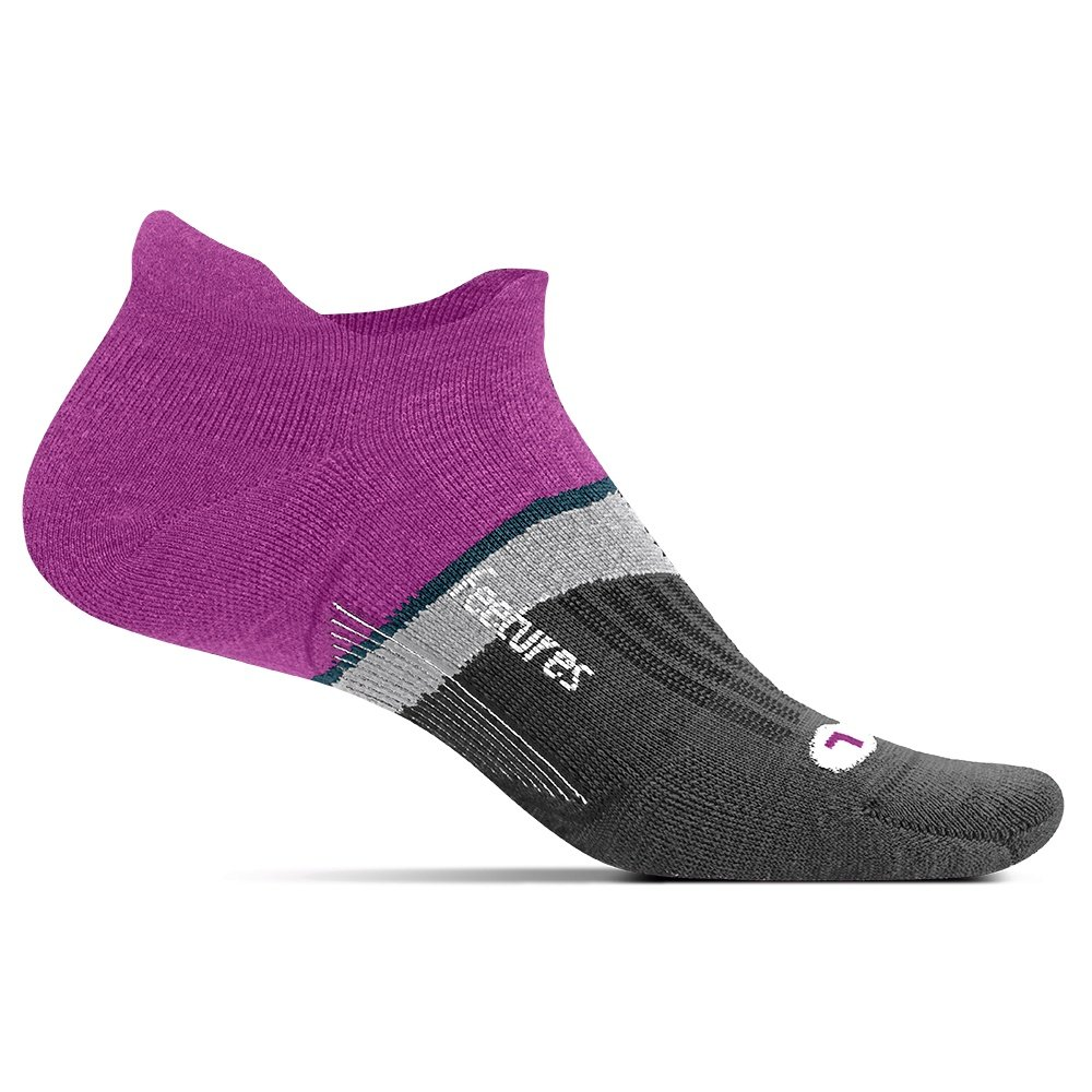 Feetures Merino 10 Light Cushion No Show Tab Running Sock (Women's) - Purple Addict