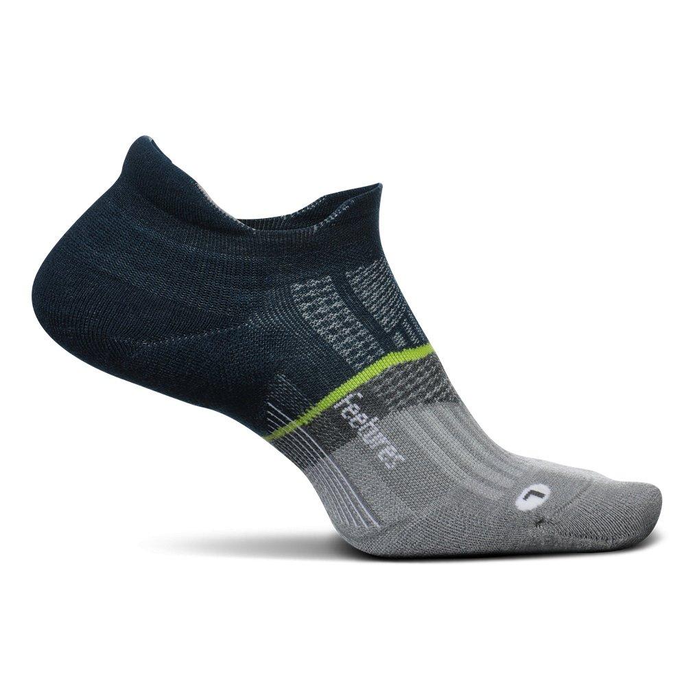 Feetures Merino 10 Light Cushion No Show Tab Running Sock (Men's) - French Navy