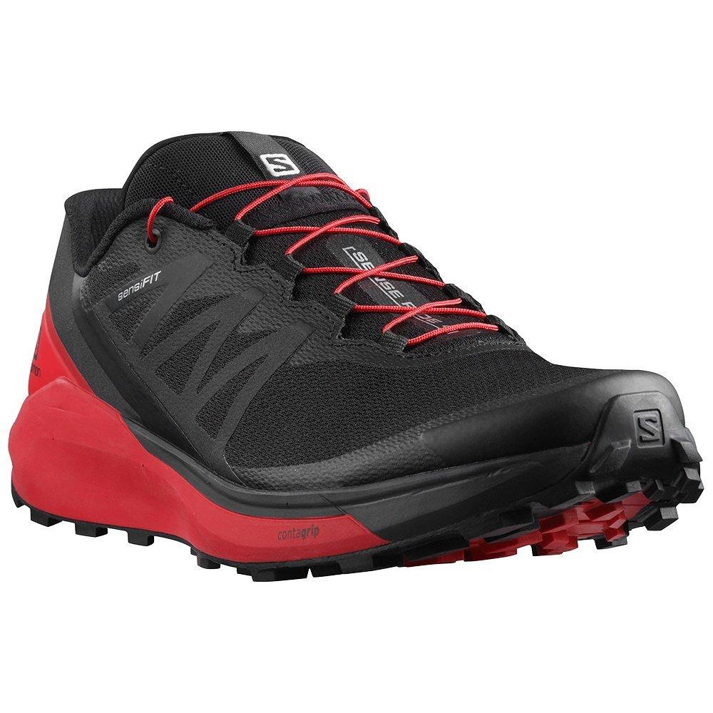 Salomon Sense Ride 4 Trail Running Shoe (Men's) - Black/Goji Berry/Phantom
