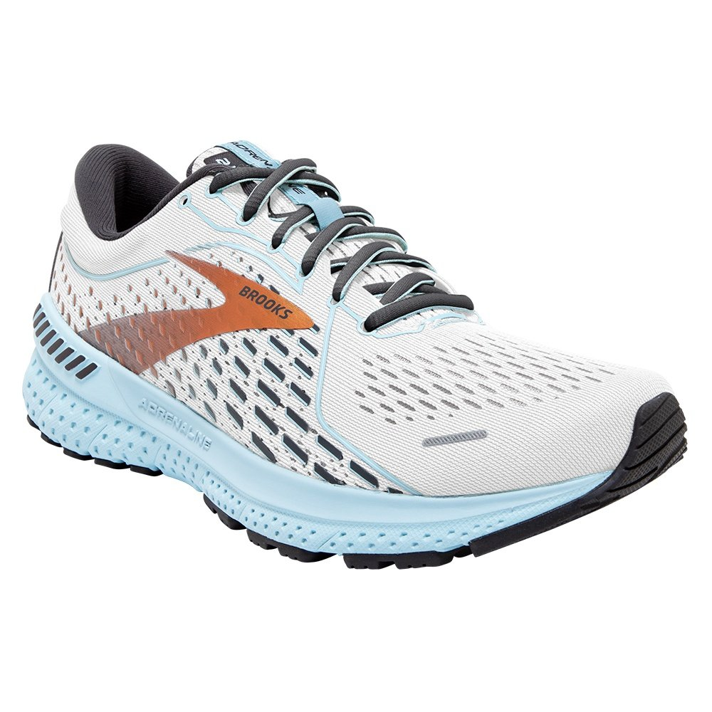 Brooks Adrenaline GTS 21 Running Shoe (Women's) - White/Alloy/Light Blue