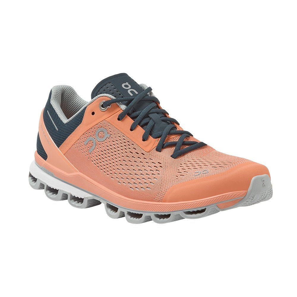 On Cloudsurfer Running Shoe (Women's) - Coral/Navy