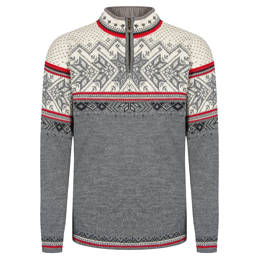Dale of Norway Vail Sweater (Adult's) - Smoke/Raspberry/Off White