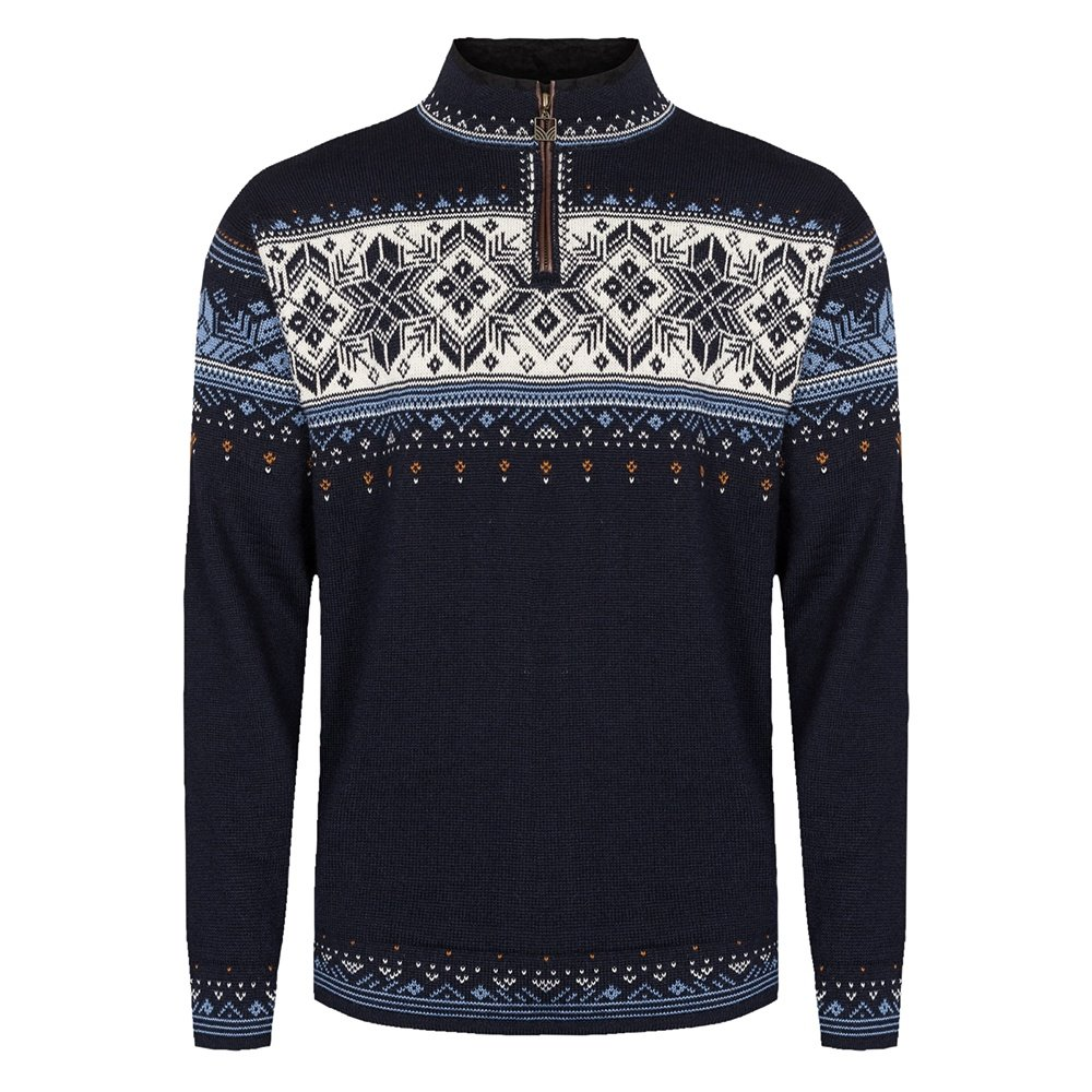 Dale of Norway Blyfjell Sweater (Adults') - Navy/China Blue/Copper