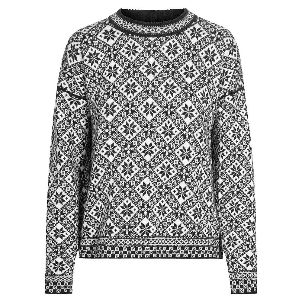 Dale of Norway Bjoroy Sweater (Women's) - Black/Off White/Raspberry