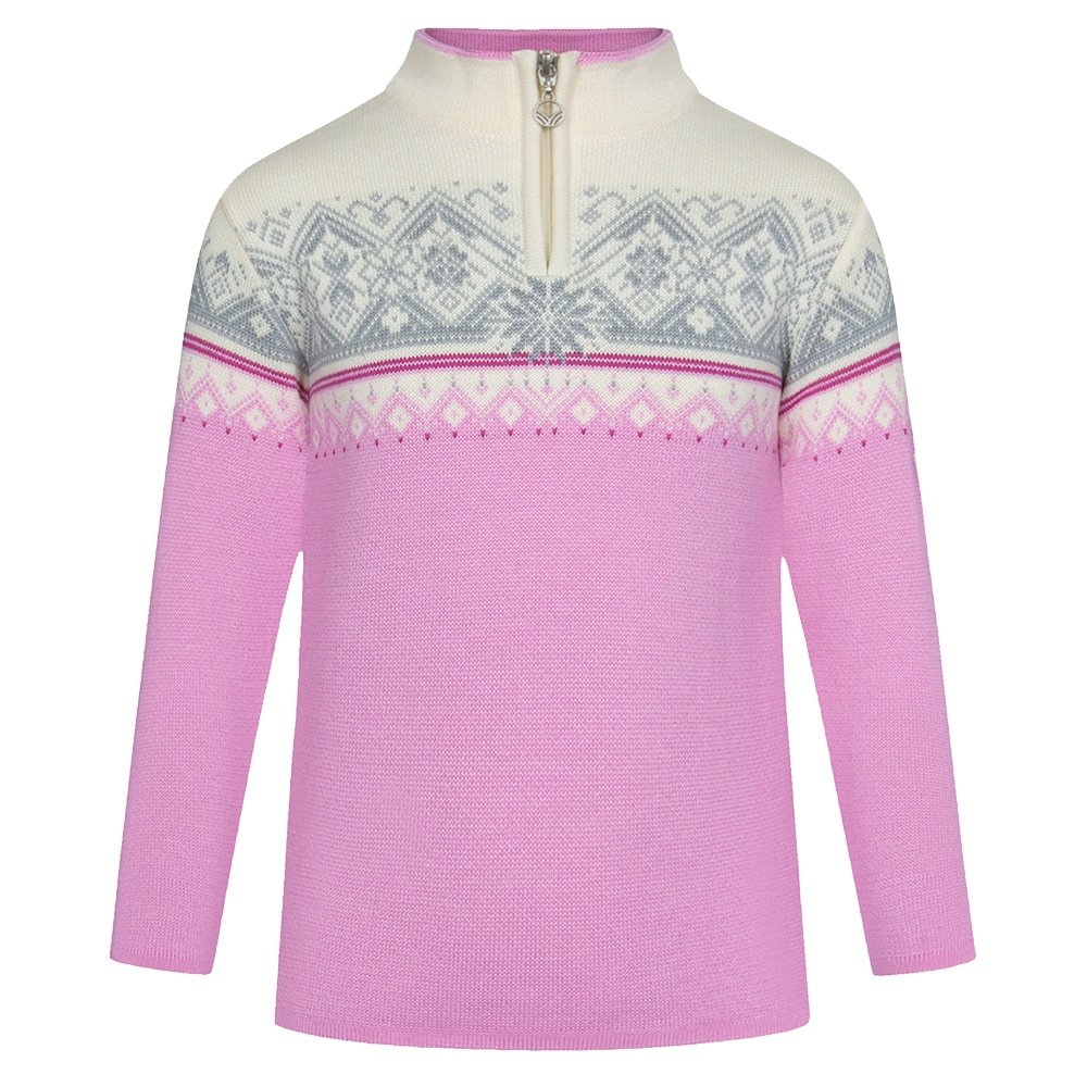 Dale of Norway Moritz Sweater (Kids') - Pink Candy/Off White/Grey