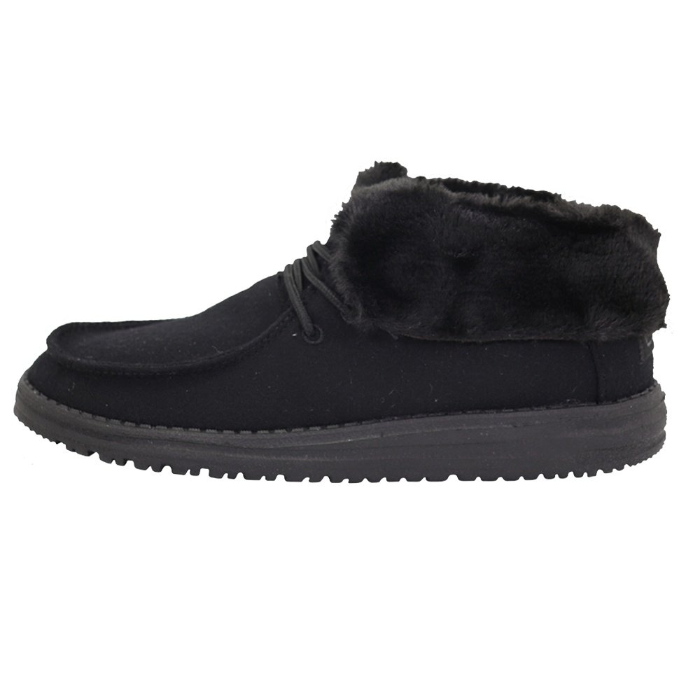 Hey Dude Brit Fur Shoe (Women's) - Black