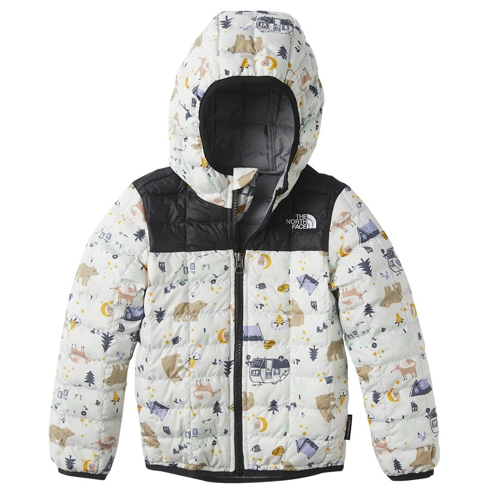 The North Face ThermoBall Eco Hoodie (Little Kids') - White Camping  Friends Print
