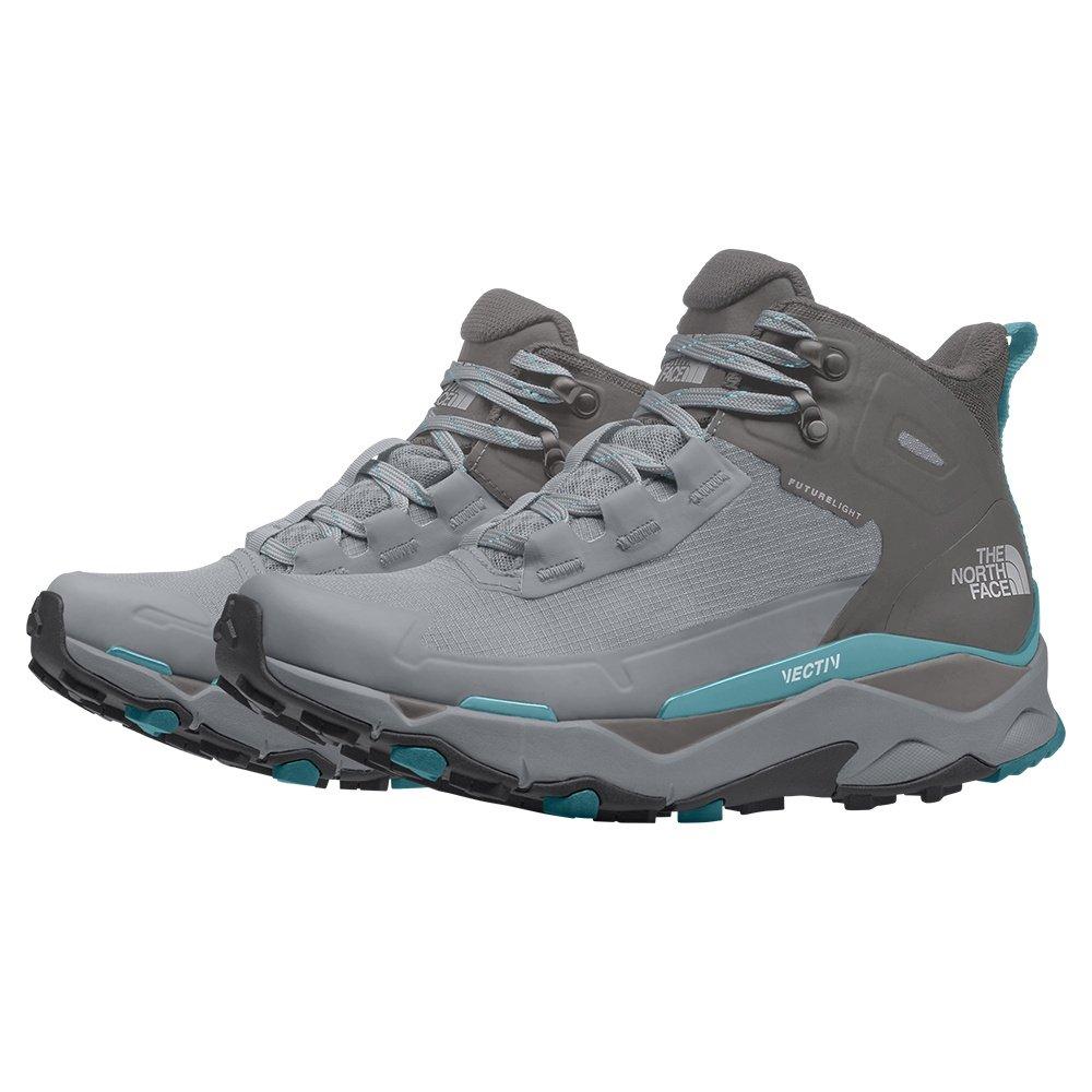 The North Face VECTIV Exploris Mid FUTURELIGHT Trail Running Shoe (Women's) - Micro Chip Grey/Maui Blue