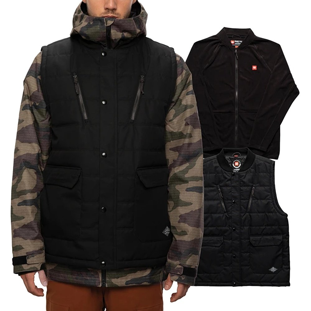686 Smarty 5 in 1 Complete Insulated Snowboard Jacket (Men's) - Black