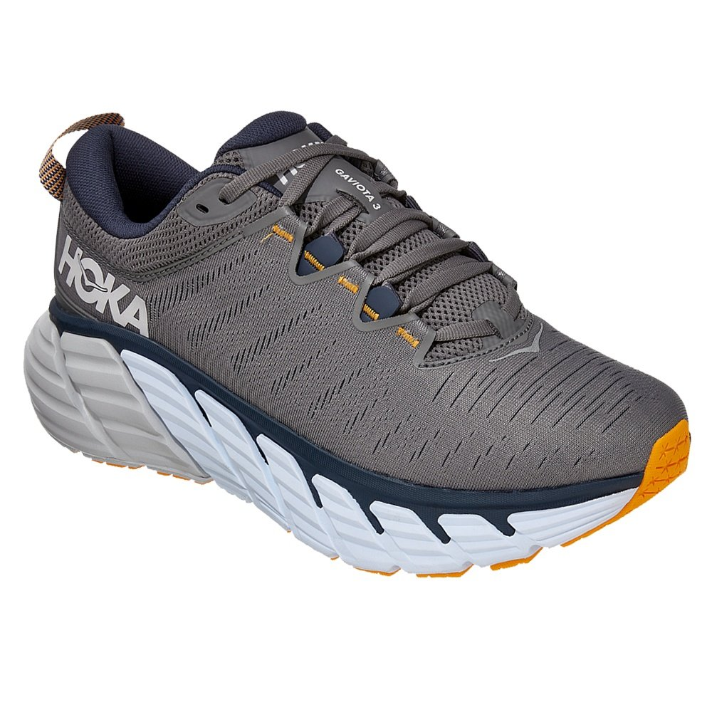 Hoka One One Gaviota 3 Wide Running Shoe (Men's) - Charcoal Gray/Pmbre Blue