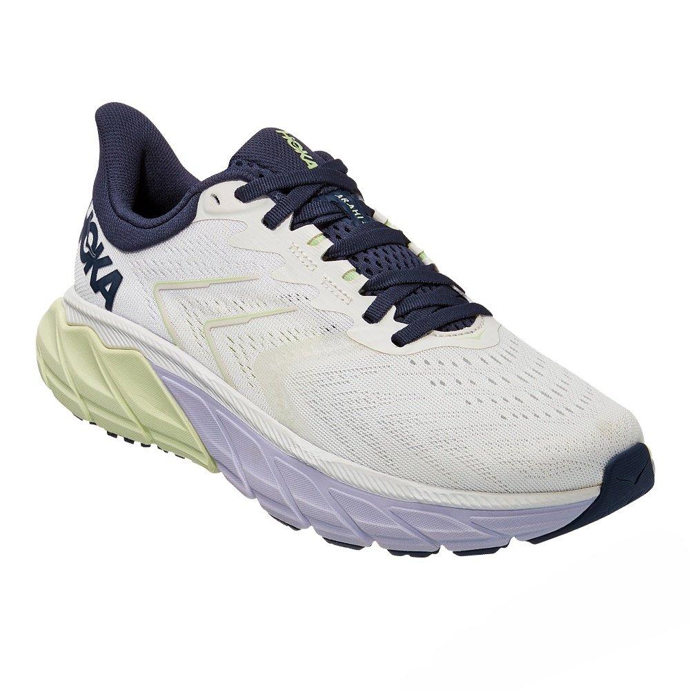 Hoka One One Arahi 5 Wide Running Shoe  (Women's) - Blanc de Blanc/Outer Space