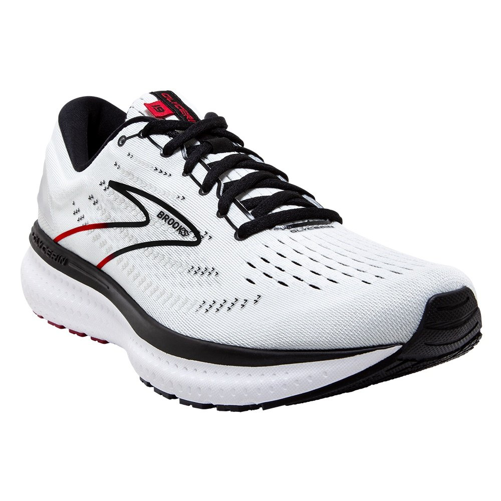 Brooks Glycerin 19 Running Shoe (Men's) - White/Black/Red