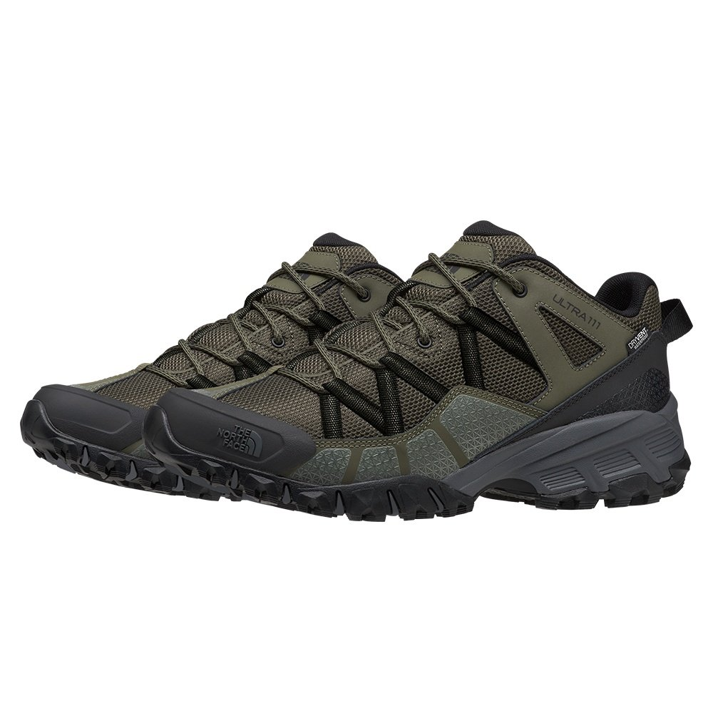 The North Face Ultra 111 Waterproof Hiking Shoe (Men's) - New Taupe Green/TNF Black