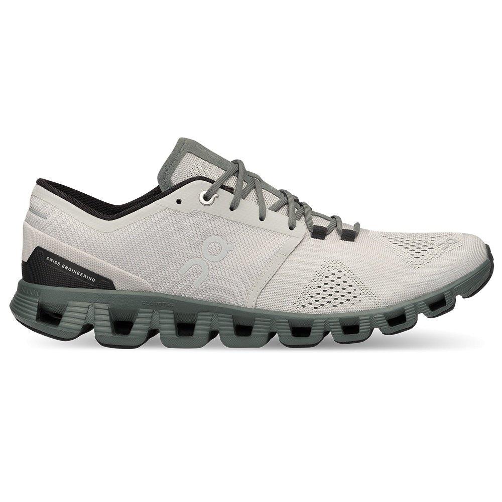 On Cloud X Running Shoe (Men's) - Glacier/Olive