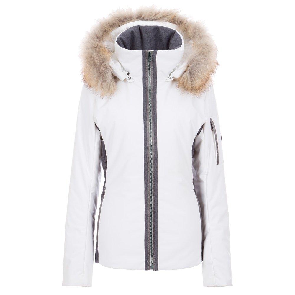 Fera Danielle II Insulated Ski Jacket with Faux Fur (Women's) - White Cloud/Charcoal