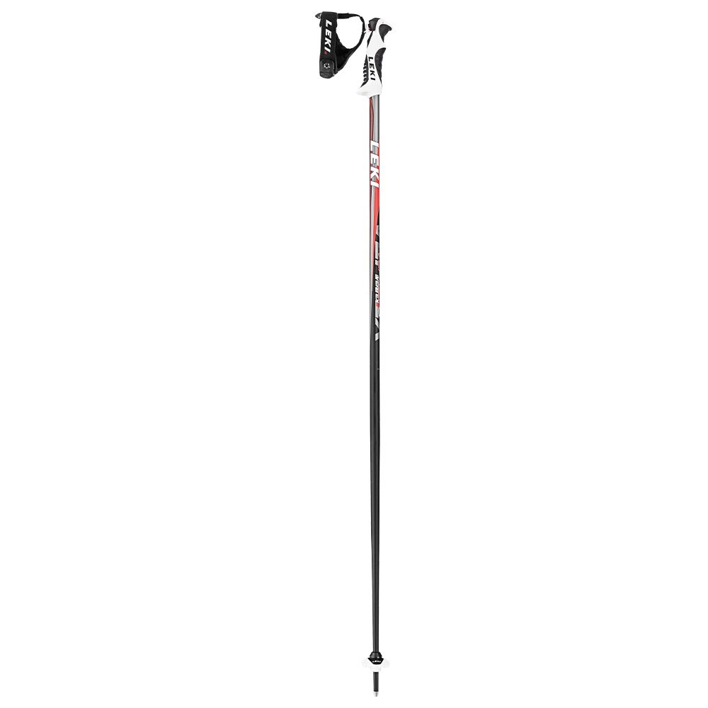 Leki Vertex Ski Pole (Men's) - Anthracite/Red