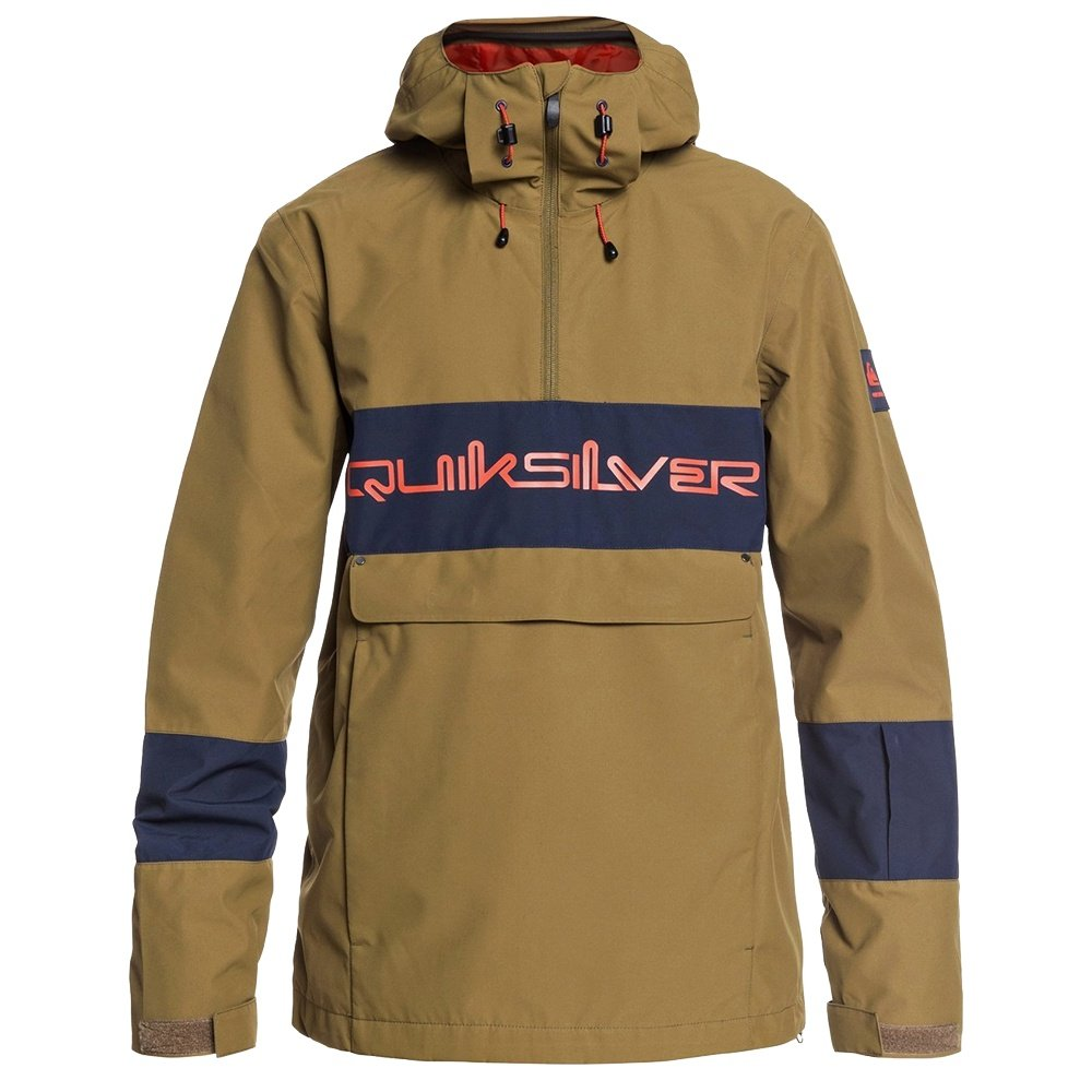 Quiksilver Steeze Shell Snowboard Jacket (Men's) - Military Olive