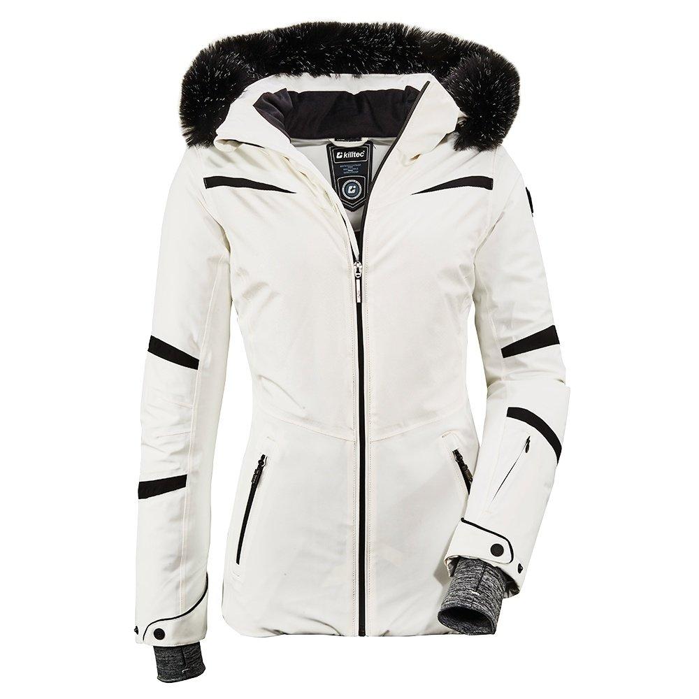 Killtec Wasilla Insulated Ski Jacket with Faux Fur (Women's) - White