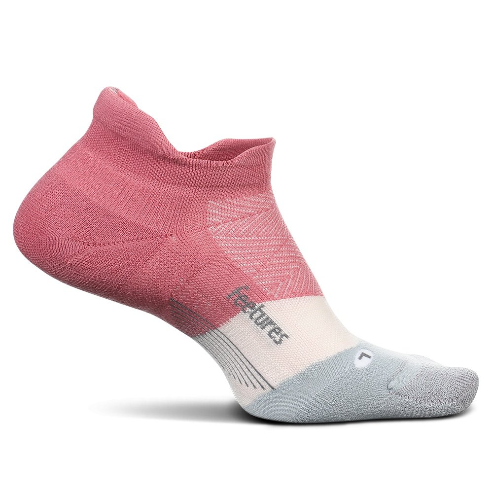 Feetures Elite Max Cushion No Show Running Sock (Women's) - Polychrome Pink