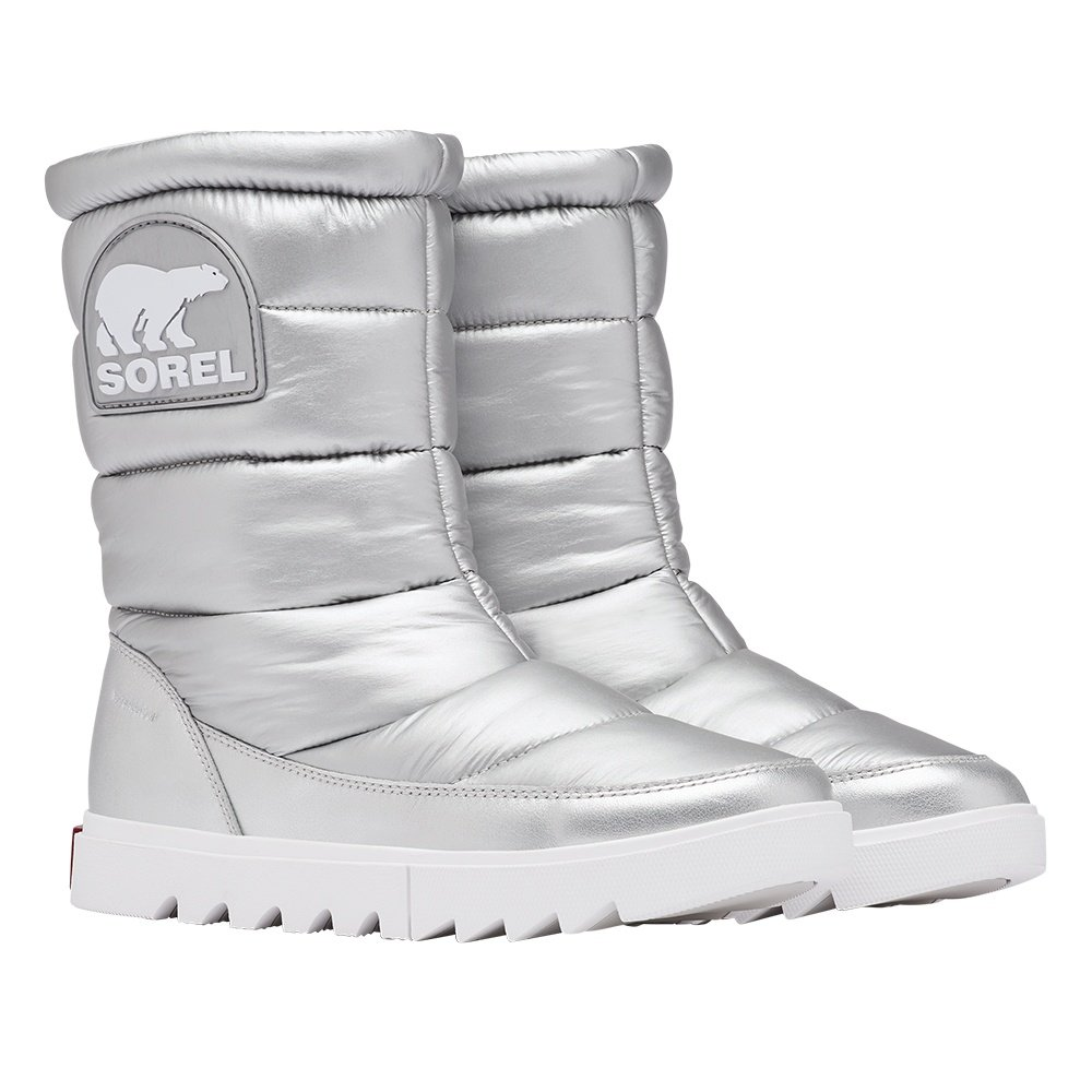 Sorel Joan of Arctic Next Lite Mid Puffy Winter Boot (Women's) - Pure Silver